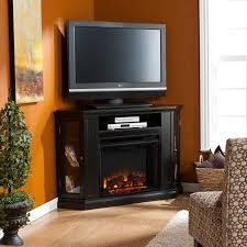 awesome corner electric fireplace tv stand oak interior design
