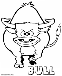 bull coloring pages coloring pages download print