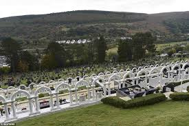 memorial tributes aberfan disaster that claimed 144 victims marked with silence on