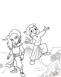 chhota bheem and the throne of bali coloring page free printable