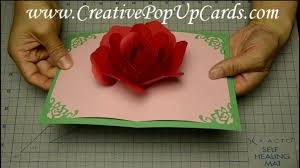rose pop up card for mother u0027s day or valentine u0027s day youtube