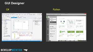 python gui designer python for the c developer