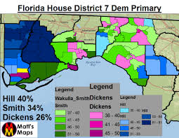 Florida House Districts Map Florida House District 7 Last Stand Of The Dixiecrats Mattsmaps