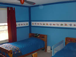 bedroom cool blue nuance at contemporary kids bedroom equipped