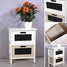 Schlafzimmer Kommode Dunkelbraun Kommode Regal 2 Schubladen Holz Weiß Braun Kaufen Bei Mucola Gmbh