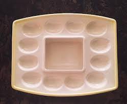 ceramic deviled egg platter ceramic deviled egg tray easter egg platter colored eggs