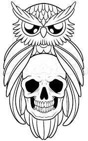 how to draw an owl and skull tattoo step by step tattoos pop