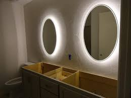 bathroom heated mirror lights also awesome back lighted mirrors