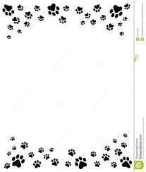 cat and free dog clip art borders paw prints border royalty free