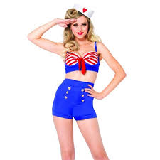 on deck darling vintage style pin up sailor costume