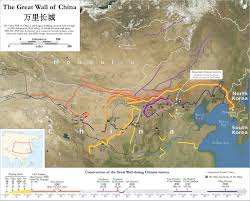 Map Of China And India by History Of The Great Wall Of China Wikipedia
