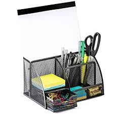 Black Mesh Desk Organizer Halter Steel Mesh Desk Organizer Supply Caddy With 6