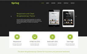 spring one page responsive template portfolios u0026 resumes