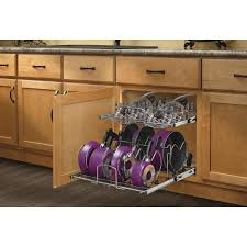 home depot kitchen cabinet organizers rev a shelf 18 13 in h x 20 75 in w x 22 in d pull out 2