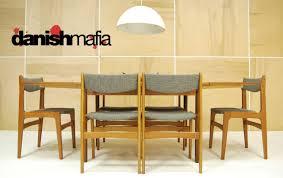 mid century danish modern teak dining complete set table u0026 6