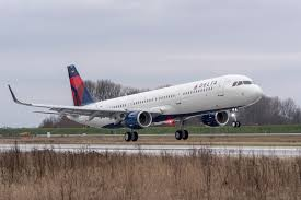 Delta Airlines Inflight Movies by Delta Takes Delivery Of First Airbus A321 Ajc Atl