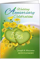 55th wedding anniversary wedding anniversary invitations from greeting card universe