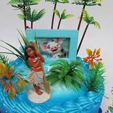 Tropical Themed Cake - moana tropical themed moana birthday cake topper set featuring