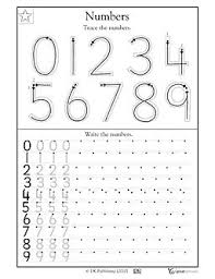 number tracing and writing sheet free kinder math pinterest