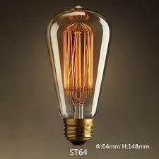 tungsten filament vintage e27 bulb pendant light blub 110v 220v