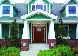 view exterior house colors with red door style home design