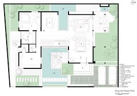 courtyard house plan gallery of courtyard house abin design studio 21