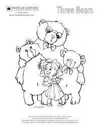 goldilocks and the three bears coloring pages virtren com