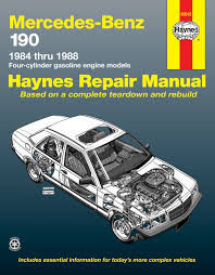 mercedes benz 190 4 cylinder petrol 84 88 haynes repair manual