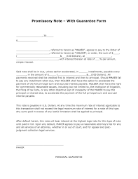 installment promissory note template free free promissory note with guarantee form pdf template form
