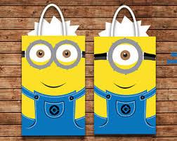 minion gift bags minion favor bags etsy