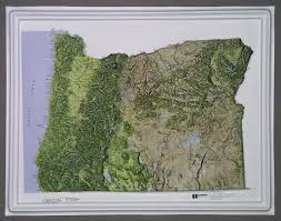oregon raised relief map color series