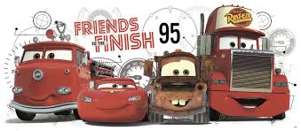 disney cars friends to the finish wall stickers stickers for 2012 giantdecal 18x40