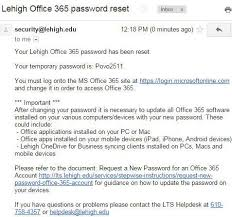 reset microsoft online services password request a new password for a lehigh office 365 account library