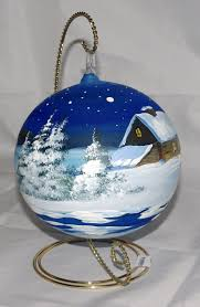 painted ornaments 2017 and tree