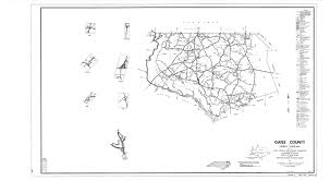 Map Of North Carolina Counties Gates County Maps