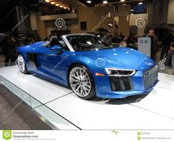 Audi R8 Blue - beautiful blue audi r8 spyder convertible editorial photography