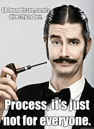 Qa Memes - qa found issue sends directly to dev process it s just not for