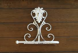 toilet paper holder antique white or pick color shabby chic