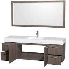 wyndham collection amare 72 single bathroom vanity in gray oak