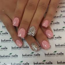 rosie pink silver rhinestone nails nailed it pinterest