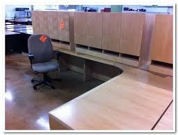 Knoll Reff Reception Desk L Shaped Maple Pre Owned Knoll Reff Desk Office Furniture St Louis