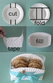 Cookie Basket Delivery Easy Diy Cookie Basket Made From A Paper Plate Cookie Gift