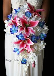 stargazer bouquet pink and blue wedding flowers think i found kinda what i want for