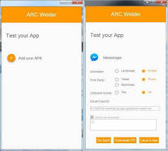 chrome extension apk arc welder for developers to test android apps