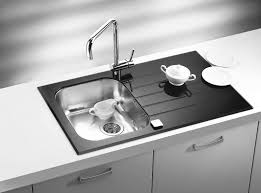 Black Glass Kitchen Sinks Glass Kitchen Sink Black White Bespoke Colours Yellow