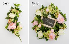 wedding wreath 5 step diy wedding wreath tutorial the koch