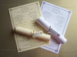 scroll wedding programs ceremony scrolls buy wedding ceremony scrolls in ireland from