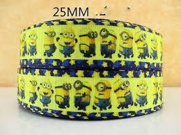 minion ribbon 1 metre new minion despicable me ribbon size 1 inch bows headbands