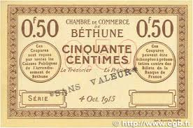 chambre de commerce bethune 50 centimes regionalism and miscellaneous béthune 1915 jp