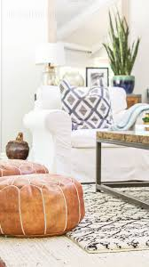 how to buy leather moroccan poufs on the cheap boho leather ottomans